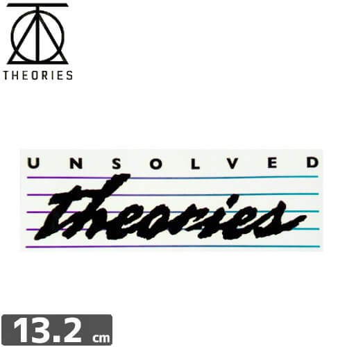 【セオリーズ THEORIES ステッカー】UNSOLVED【4.6cm x 13.2cm】NO25