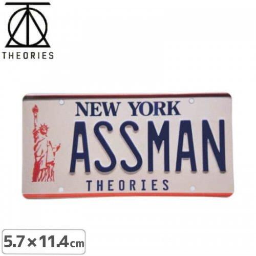 【セオリーズ THEORIES ステッカー】ASSMAN【5.7cm x 11.4cm】NO26