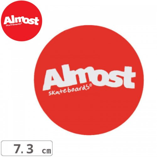 【ALMOST オルモスト ステッカー】RED STICKER【7.3cm x 7.3cm】NO101