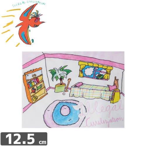 【ILLEGAL CIVILIZATION イリーガル シヴィライゼーション ステッカー】ROOM【9.6cm x 12.5cm】NO2