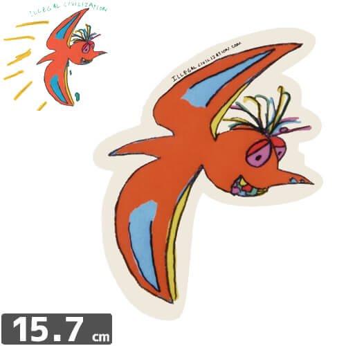 【ILLEGAL CIVILIZATION イリーガル シヴィライゼーション ステッカー】DINO【15.7cm x 12.7cm】NO4