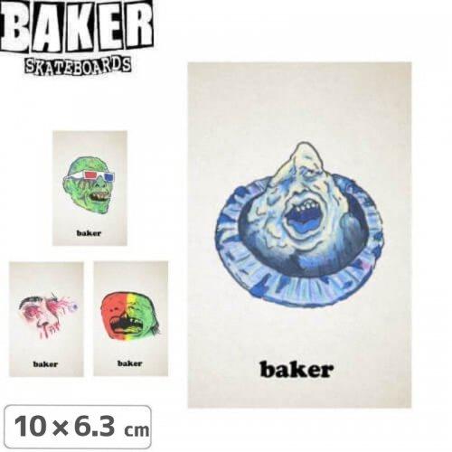 【ベーカー BAKER SKATEBOARD スケボー ステッカー】MONSTERS【4種】【10cm×6.3cm】NO64