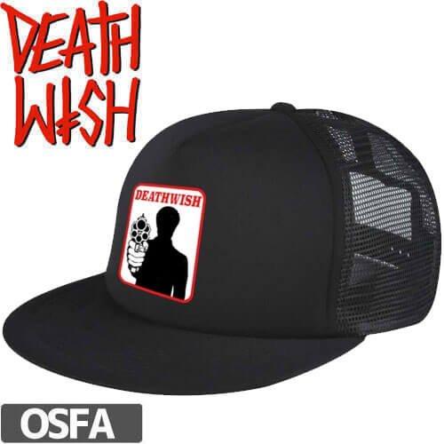 【デスウィッシュ DEATHWISH スケボー キャップ】BRONSON TRUCKER HAT【ブラック】NO19