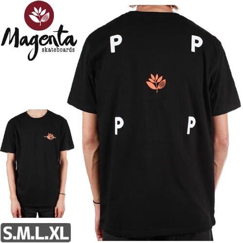 【MAGENTA マゼンタ Tシャツ】MAGENTA X POP TRADING TEE【ブラック】 NO2