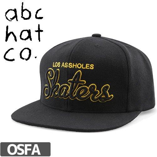【ABC HAT.CO エービーシーハット キャップ】LOS ASSHOLES SNAPBACK CAP【ブラック x イエロー】NO1
