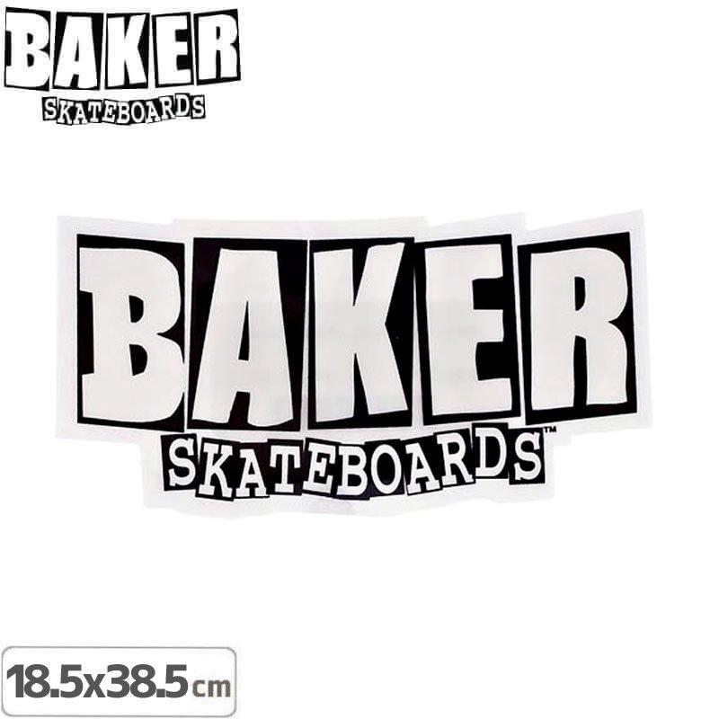 【ベーカー BAKER SKATEBOARD スケボー ステッカー】LOGO【18.5cm×38.5cm】NO01