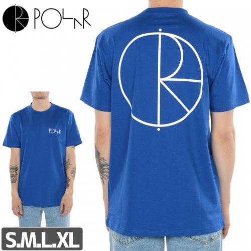 【POLAR ポーラー スケボー Tシャツ】STROKE LOGO TEE 80s BLUE NO4