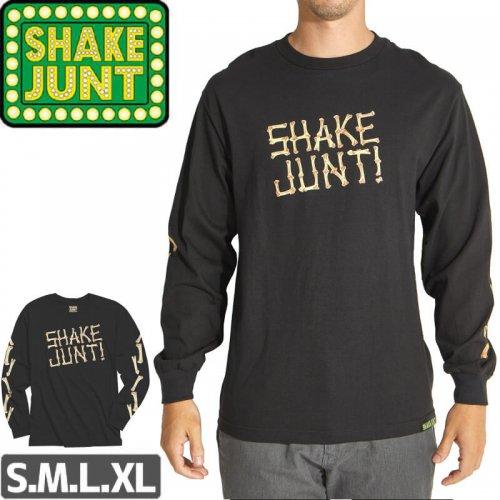 【シェイクジャント SHAKE JUNT  ロングTシャツ】X RAY LONGSLEEVE【ブラック】NO02