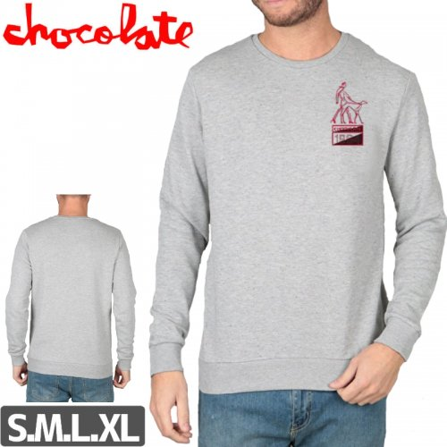 【チョコレート CHOCOLATE スケボー スウェット】COLOR PALETTE CREW【グレー】NO33