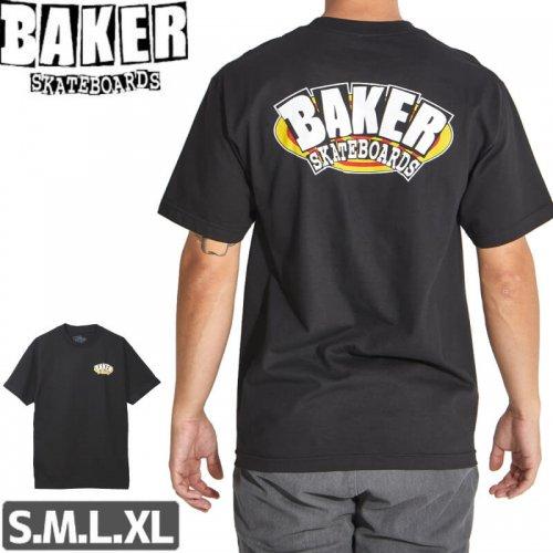 【BAKER ベーカー スケボー Tシャツ】OVAL ARCH TEE【ブラック】NO61