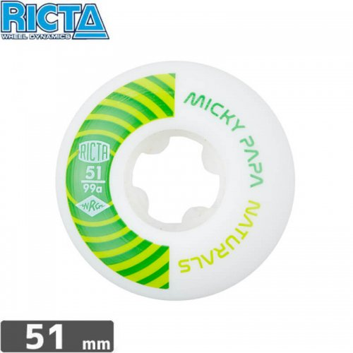 【リクタ RICTA スケボー ウィール】MICKY PAPA PRO NATURALS【51mm】NO32