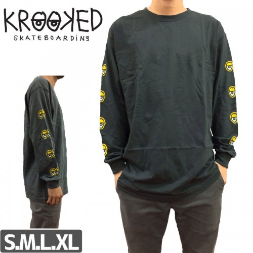 【KROOKED クルックド スケボー ロング Tシャツ】FOUR EYES LONG SLEEVE NO3