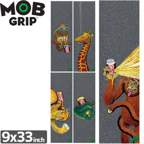【モブグリップ MOB GRIP デッキテープ】BRATRUD PARTY ANIMALS 2 SINGLE SHEET【9 x 33】NO165