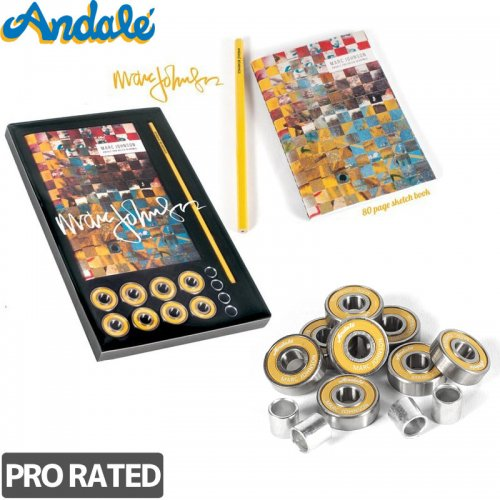 【ANDALE アンダレー スケボー ベアリング】MARC JOHNSON NOTEPAD BEARINGS 8 PRO RATED【ABEC7相当】NO6