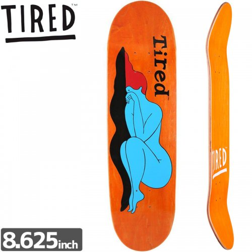 【TIRED タイレッド スケートボード デッキ】MANDAAG GIRL DECK[8.625インチ]オールドスクール NO2