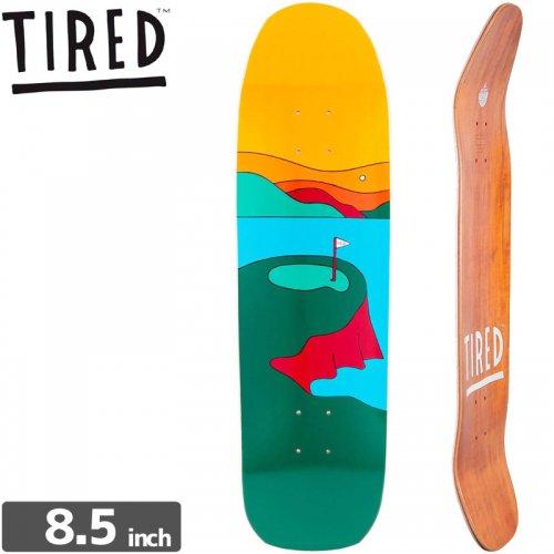 【TIRED タイレッド スケートボード デッキ】GOLF DECK[8.5インチ]オールドスクール NO6