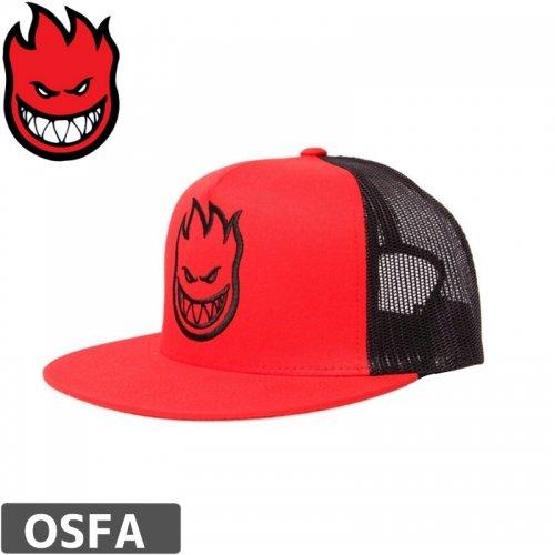 【スピットファイア SPITFIRE スケボー キャップ】FIREHEAD MESH CAP【レッド x ブラック】NO4
