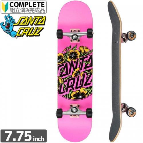 【サンタクルーズ SANTA CRUZ スケートボード コンプリート】COLORED POPPY PINK COMPLETE[7.75インチ]NO58
