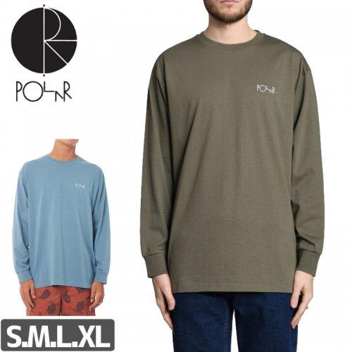 【POLAR ポーラー スケボー ロング Tシャツ】SCRIPT LOGO L/S TEE【2カラー】NO6