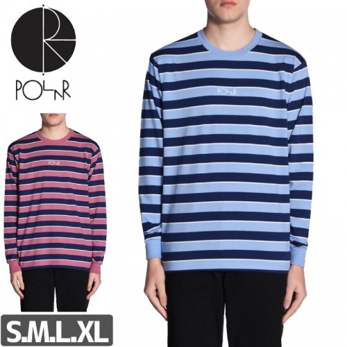 【POLAR ポーラー スケボー ロング Tシャツ】STRIPED L/S TEE【2カラー】NO7