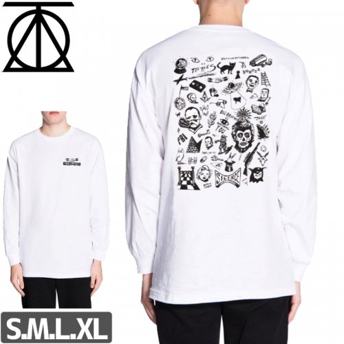 【THEORIES セオリーズ スケボー ロング Tシャツ】SPOOKY FROM NOW ON L/S TEE NO2