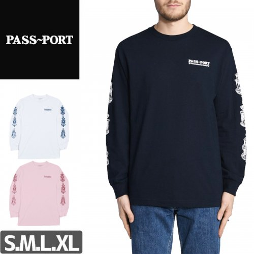 【PASS~PORT パスポート スケボー ロング Tシャツ】FOUNTAINS FOR LIFE L/S TEE NO1