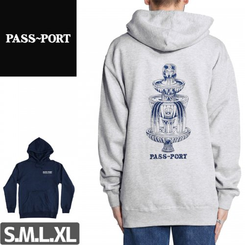 【PASS~PORT パスポート スケボー パーカー】FOUNTAINS FOR LIFE HOODIE NO1