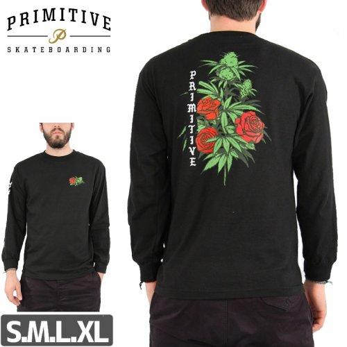 【PRIMITIVE プリミティブ スケボー ロング Tシャツ】ROSEBUD L/S TEE NO1