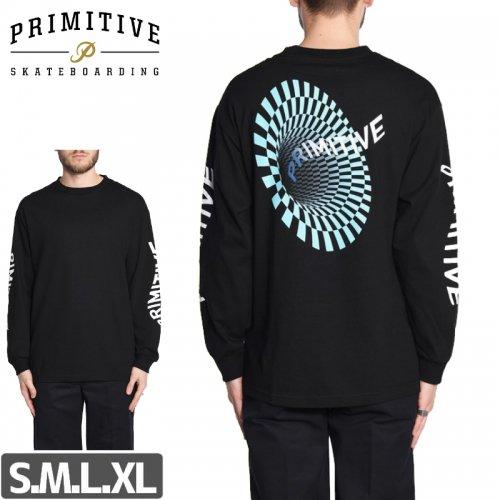 【PRIMITIVE プリミティブ スケボー ロング Tシャツ】BLACK HOLE L/S TEE NO2