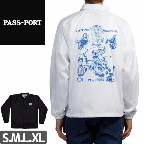 【PASS~PORT パスポート スケボー ジャケット】GREECE EMBROIDERY COACH JACKET NO1