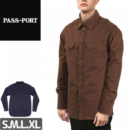 【PASS~PORT パスポート スケボー ワークシャツ】WORKERS LATE LONGSLEEVE SHIRTS NO1
