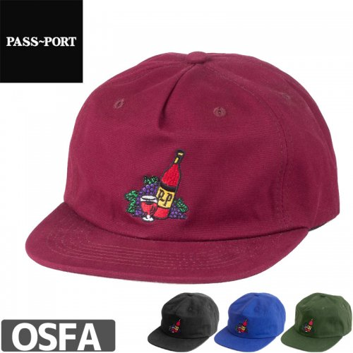 【PASS~PORT パスポート スケボー キャップ】TASTE OF SUCCESS 6 PANEL CAP NO1