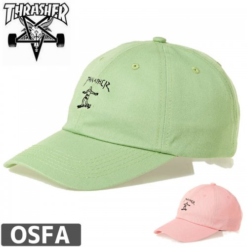 【スラッシャー THRASHER  キャップ】GONZ OLD TIMER CAP【ピンク/ミント】NO34