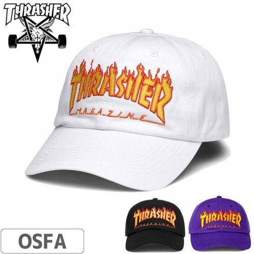 【スラッシャー THRASHER  キャップ】FLAME OLD TIMER CAP【パープル/ホワイト】NO35