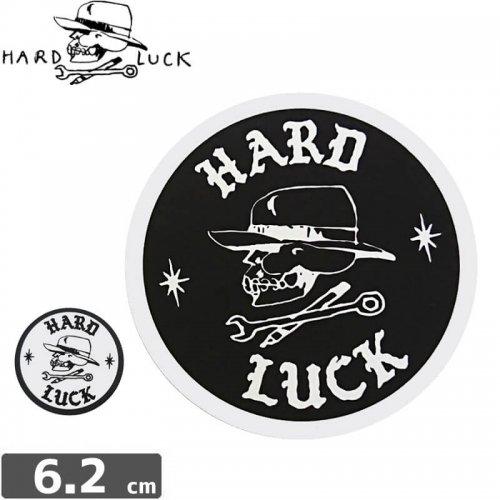 【HARD LUCK ハードラック ステッカー】OG E STICKER【2色】【6.2cm x 6.2cm】NO10
