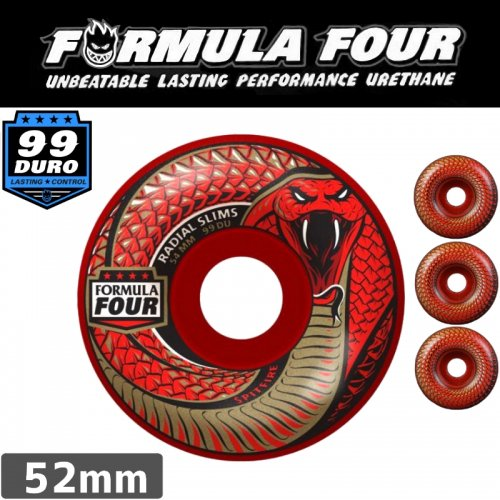 【SPITFIRE スピットファイア ウィール】FORMULA FOUR RED DEATH 52mm】NO216
