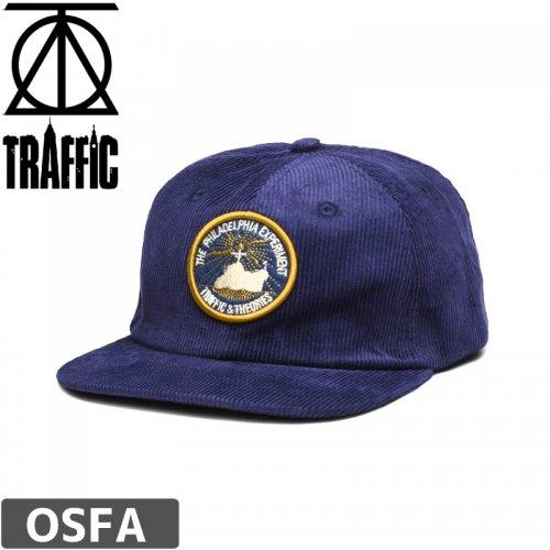 【THEORIES セオリーズ スケボー キャップ】THEORIES X TRAFFIC PROJECT RAINBOW CAP【ネイビー】NO2