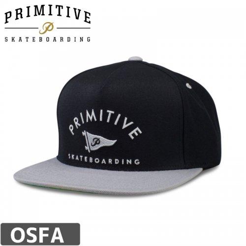 【PRIMITIVE プリミティブ スケボー キャップ】 ARCH PENNANT HAT【ブラック】NO5