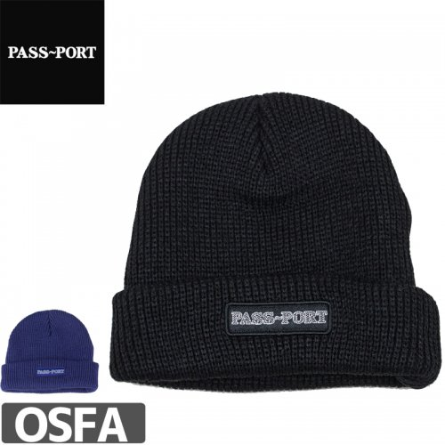 【PASS~PORT パスポート スケボー ニットキャップ】BRICK OFFICIAL PATCH BEANIE NO1