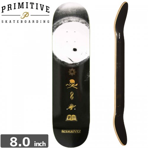 【PRIMITIVE プリミティブ スケボー デッキ】RODRIGUEZ BLACK MAGIC DECK [8.0インチ] NO30
