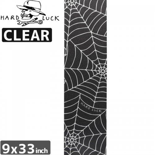 【HARD LUCK ハードラック スケボー デッキテープ】SPIDER WEB GRIP APE CLEAR【9x33】NO3