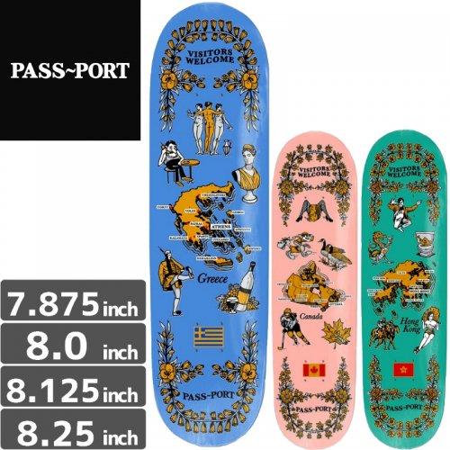 【PASS~PORT パスポート スケートボード デッキ】INTARNATIONAL TEA TOWELS DECK[7.8インチ][8.1インチ][8.25インチ]NO3