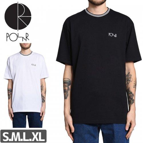 【POLAR ポーラー スケボー Tシャツ】STRIPED RIB TEE【ブラック】【ホワイト】NO5