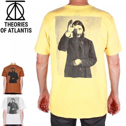 【スケボー Tシャツ THEORIES セオリーズ】RASPUTIN TEE 【ウォームグレー×ブラック】NO02