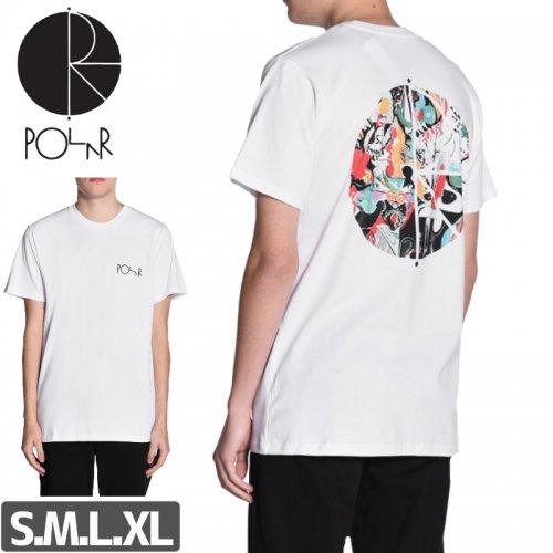 【POLAR ポーラー スケボー Tシャツ】EGO LOSS FILL LOGO TEE【ホワイト】NO6