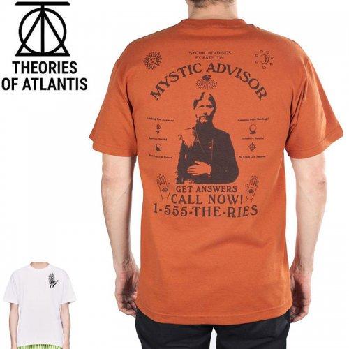 【スケボー Tシャツ THEORIES セオリーズ】Mystic Advisor Tee【ライトヘザー×ラベンダー】NO04