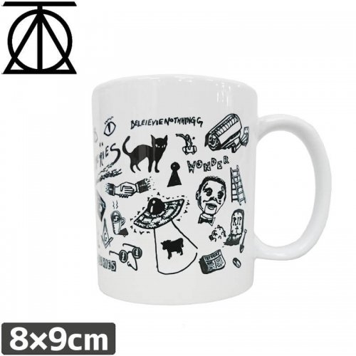 【THEORIES セオリーズ スケボー マグカップ】SPOOKY FROM NOW ON MUG CUP【8cmx9.5cm】NO1