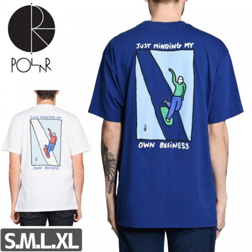 【POLAR ポーラー スケボー Tシャツ】JUST MINDING MY OWN TEE【2カラー】 NO12