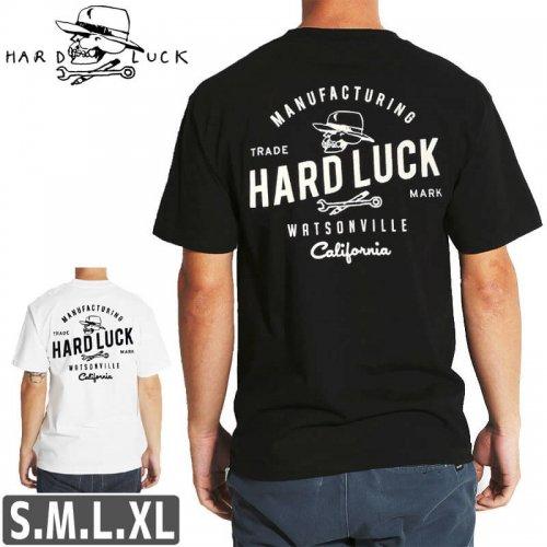 【HARD LUCK ハードラック スケボー Tシャツ】GARAGE TEE【ブラック / ホワイト】NO12