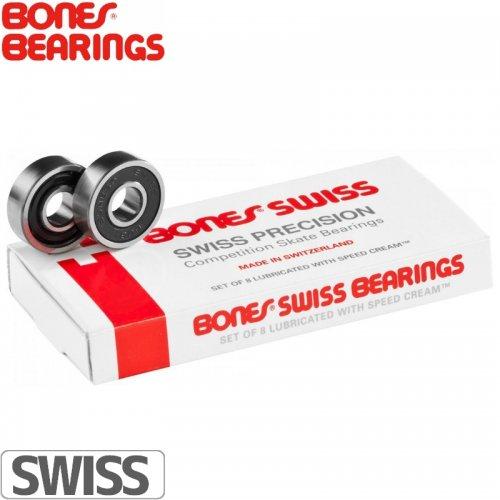 【ボーンズ BONES BEARINGS スケボー ベアリング】ORIGINAL SWISS BEARINGS【スイス】NO4